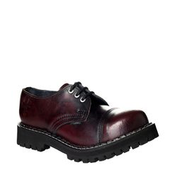Leather boots STEEL burgundy 3-eyelet-shoes