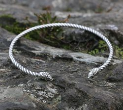 FLÓKI, Viking Silver Torques by Wulflund