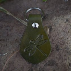 DRAGONFLY,  keyring, leather