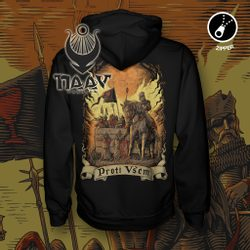 AGAINST ALL - Hussites, Zipper Hoodie