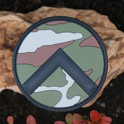 SPARTAN SHIELD Rubber Velcro Patch