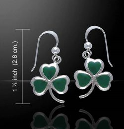 IRISH CLOVER, silver earrings, Ag 925