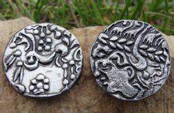 CELTIC COIN, Belgae tribes, replica