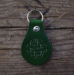 Keychain - HIBERNIA, leather