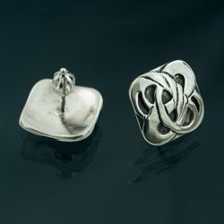 BOHEMIA, Art Nouveau, silver earrings