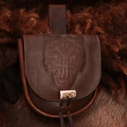 WOLF, leather bag, brown