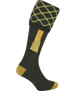 Diamond Shooting Socks, men's, green