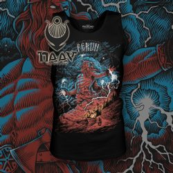 PERUN, Slavic God of Thunder, Tank Top