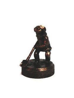 DWARF WITH A SHOVEL, historical tin statue