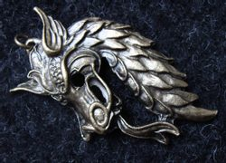Chinese Dragon Pendant, pewter