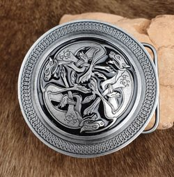 Celtic Wolf, black, Belt Buckle