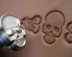 SKULL, leather stamp