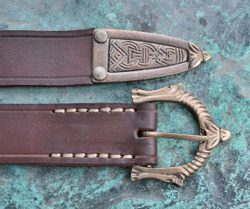 SLEIPNIR, viking leather belt