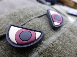 ANGRY EYES, 3D velcro patch
