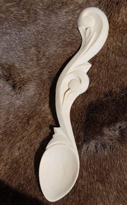 Art Nouveau, carved wooden spoon