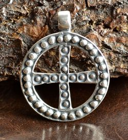 SLAVIC SOLAR CROSS, Empire of Moravia Magna, silver pendant, Ag 925