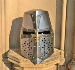 Grand Master, crusader great helmet with the cross