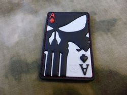PUNISHER ACE OF SPADES, 3D velcro patch