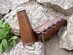 Leather Arm Bracers - Arm Cuffs