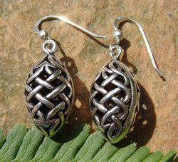 PINECONE, 3D silver earrings, Ag 925