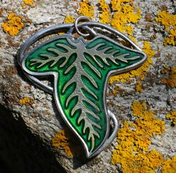ELVEN LEAF Pendant, tin alloy