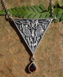 CELTIC BIRDS, silver necklace, Ag 925, 12 g