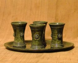 Ceramic Shot Glass - set of 4
