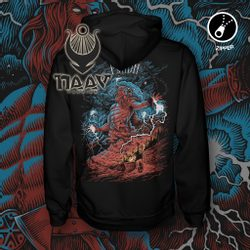 PERUN, Slavic God of Thunder, Zipper Hoodie