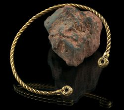 CELTIC CHIEFTAIN TORC, bronze torques