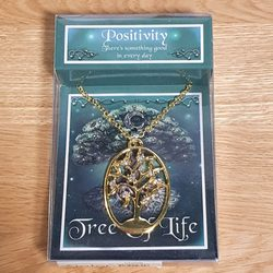 POSITIVITY- Tree of Life pendant with a chain