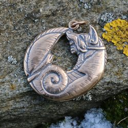 CELTIC FOX, Bronze Pendant