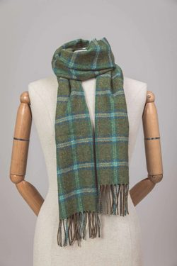 Forest Check Scarf, Foxford, Ireland