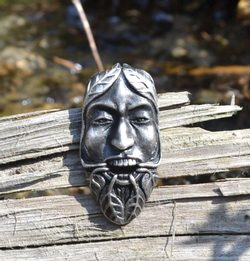 GREENMAN, tin pendant, silver plated