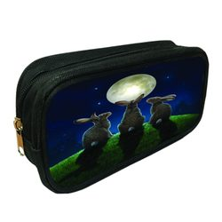 3D Pencil Case Moon Shadows