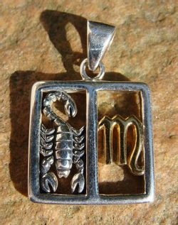 SCORPIO, The Scorpion, silver pendant