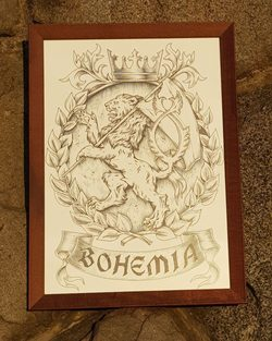 Bohemia, framed picture