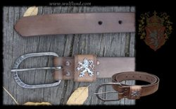 Kingdom of Bohemia, exclusive leather belt, brown
