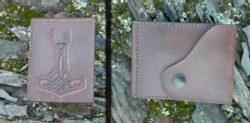 LEATHER WALLET - THOR HAMMER