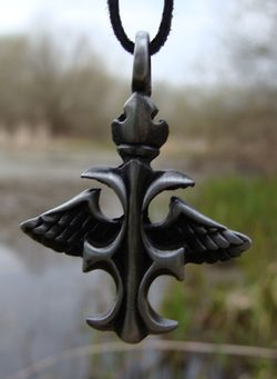 THE WINGED CROSS, pendant