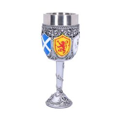 Goblet of the Brave Scottish Shield Glass