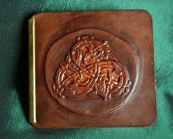 CELTIC ANIMAL TRISKEL, leather wallet