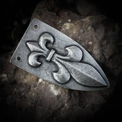 FLEUR DE LIS Viking Strap End, zinc - antique silver