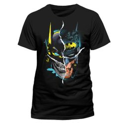 BATMAN - GOTHAM FACE, unisex T-shirt - Black