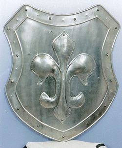 Decorative Shield with motif of lily
