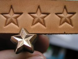 STAR, leather stamp