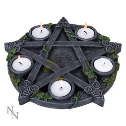 Wiccan Pentagram, bougeoir