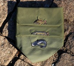 Handkerchiefs with fishing motifs 3 x