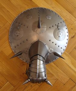 LARGE GUN SHIELD WITH GAUNTLET, decoration replica