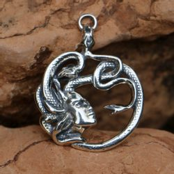 MEDUSA, antique Talisman, silver