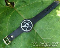 PENTACLE, leather cuff